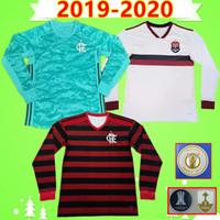 uniformes futebol venda por atacado-NEW 19 20 manga longa Flamengo Soccer Jersey goleiro B.HENRIQUE DIEGO 2,019 2,020 uniforme GABRIEL B. Vitinho completa Brasil Camisa de futebol
