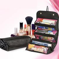 kits de viagem jóias venda por atacado-Maquiagem Bolsa de Cosméticos Caso Mulheres Bolsa de Maquiagem Pendurado Artigos de Higiene Pessoal Kit de Viagem Organizador de Jóias Estojo de Cosméticos