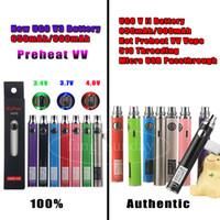 bateria recarregável venda por atacado-Original UGO V II V3 Pré-aqueça VV Variável Tensão Vape Pen 510 Rosca Evod EGO Bateria Recarregável 650 900 mAh Micro USB PassthroughCharger