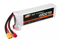 rc lipo batterie 4s großhandel-XF Power 14.8V 4500mAh 75C 4S Lipo Batterie T / XT60 Stecker für Skyhunter RC Flugzeug
