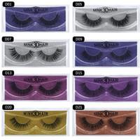 Wholesale false glitter eyelashes resale online - 3D Mink Lashes False Eyelashes Long Lasting Lashes Glitter Packaging Thick Lashes for Eye Makeup Extension fake Eyelash KKA6705