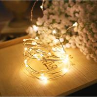 белый светодиодный сетчатый свет оптовых-2m-5m Медный Провод Кабинет Лампы Книжный Шкаф Украшения Светодиодные Гибкие Лампы String Рождество Свадьба Внутреннее Освещение