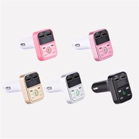 Wholesale mp3 player for sale - Group buy B2 Bluetooth Car Kit MP3 Player With Handsfree Wireless FM Transmitter Adapter V A USB Car Charger B2 Support Micro SD Card