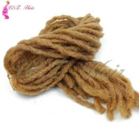 Wholesale janet braiding hair online - dreadlock faux locs crochet hair braid bob marley synthetic braiding hair extension janet collection dread locs kanekalon