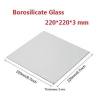 Square 3mm Thick Clear Borosilicate Glass Build Plate Heat Bed for 3D Printers