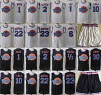 shorts de lã venda por atacado-Space Jam Jersey Filme Tune Squad Pato Looney Daffy Bill Murray Lola Pernalonga TAZ Tweety Michael James Curry Calções De Basquete Preto Branco
