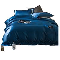 Wholesale black silk king comforter online - HOT sale Washed Silk bedding set cotton duvet quilt covers bed sheet comforters bedclothes coverlet