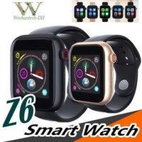 новейшая интеллектуальная камера для часов оптовых-Новинка Z6 Женская девушка SmartWatch для Apple Iphone Smart Watch Bluetooth 3.0 Часы с камерой Поддерживает SIM-карту TF для смартфона Android
