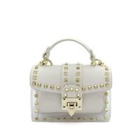 sacs blancs pour l'été achat en gros de-Sacs à main de luxe Femmes Sacs Designer Rivet Transparent Sac Clair Blanc Bourse D'Embrayage Petit Crossbody Sacs pour Femmes 2019 Été