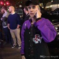 vestes de basketball de baseball achat en gros de-Justin Bieber Basketball Veste Hommes Hip Hop Baseball veste à manches longues Zip Up manteau de Cardigan Casual vêtement Streetwear NCI0720