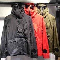 schwarzer trenchcoat hoodie großhandel-19ss klassischer neuer Herren- und Damen-Hoodie-Trenchcoat, ADCP mit schwarzer Schutzbrille, drei Farben, m-xxl450