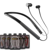 micrófono de cuello al por mayor-BT-780 BT-860 Inalámbrico Bluetooth 4.2 Auricular Auricular magnético Cuello deportivo Auriculares en la oreja HIFI Auriculares con micrófono para IOS Android
