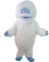 ingrosso pupazzo di neve costume della mascotte di natale-Halloween Bumble The Abominable Snowman Mascot Costume di alta qualità Formato adulto Cartoon Mostri di neve Costumi di Carnevale di Natale