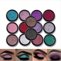 Wholesale high pigment powder resale online - LULAA Colors Sequins Face Body Powder High Pigment Makeup Shimmer Body Glitter Eyes Shadow Lip Nail Body Powder Cosmetics DHL