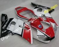 motorcycle fairing r6 1999 großhandel-YZFR6 R6 Verkleidung für Yamaha YZF600 YZF-R6 1998 1999 2000 2001 2002 Schwarz Rot Weiß ABS Motorrad Komplette Verkleidung (Spritzguss)