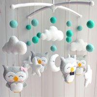 conjuntos de cama embalagem venda por atacado-Móvel chocalhos Set DIY Hanging cama sino mamã grávida Handmade material do pacote Toy Newborn Infant Crib móvel Cama de Bell