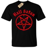 camiseta dos homens unisex venda por atacado-Crianças Meninos Meninas Saraiva Satanás Camiseta Pentagrama Rocha Goth Unholy Punk Satanic Emo Legal Casual Orgulho T Shirt Homens Unisex