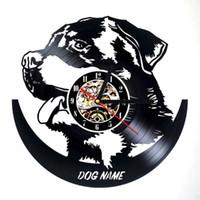 черные современные настенные часы оптовых-3D Настенные Часы Time Modern Art Виниловая Пластинка Amimal Home Decor Hand Art Art Индивидуальность Подарок (Размер: 12 дюймов, Цвет: черный)