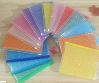 Wholesale zipper plastic gift bags for sale - Group buy PVC Zipper Bubble Packing Bags Plastic Wrap Envelope Transparent Shockproof Bag Plastic Gift Wrap Multi Colors cm