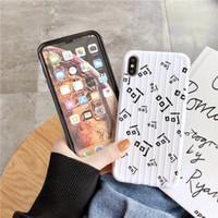 iphone çince kapsar durumlarda toptan satış-Tek Parça lüks telefon kılıfı Için iPhone XS XR MAX 8 7 Artı 6 S Çince karakter Tasarımcı Case Arka gövde şekli Kapak moda