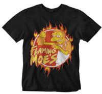 bar filmleri toptan satış-Flamin Moes T Gömlek komik retro karikatür klasik tv film film bar ihale şaka 3 Erkek Kadın Unisex Moda tişört Ücretsiz Nakliye