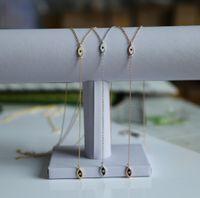 ingrosso y fascini-moda tendenza più economico 925 sterling silver donne di lusso matrimonio collana Y con collana pendente ciondolo nero occhio bianco smaltato
