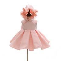 Wholesale baby girls gowns for sale - Group buy girls pageant dresses baby girl baptism gown christening dress baby girls dresses hats newborn girls princess dress A8656