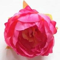 çiçek şakayık gül kamelya düğün toptan satış-Simülasyon çiçekler yüksek kalite 10 cm Ipek Şakayık Çiçek Başları Düğün Parti Dekorasyon Yapay Simülasyon Ipek Şakayık Kamelya Gül Çiçek