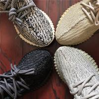 ingrosso scarpe nere gialle-Con scatola Statico Allevato Nero Zebrato antiriflesso Verde Bagliore Uomo Donna Sneakers Beluga Crema Beige Kanye West Scarpe da corsa