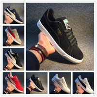Wholesale rihanna fenty sneakers for sale - Group buy 2020 Suede Leather skateboard Rihanna Shoes Fenty Suede Creepers Men Women Casual Shoes Sneakers Size EURO