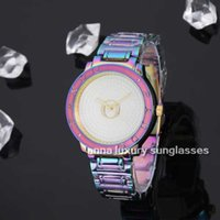 Wholesale mermaid pins resale online - New arrival Metral Mermaid Color Women luxury wristwatch Pand Stainless steel Brand Designer Big Q dial Luxury wristwatch