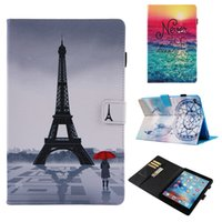 Wholesale ipad air2 tablet pc stands for sale - Group buy Painted PU Leather Tablet PC Cover for iPad Air2 iPad Stand Cover Card Slots Case for iPad