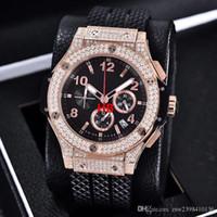 роскошные часы бриллианты оптовых-Роскошные наручные часы мужские новый BigBang 44 мм эволюция резиновая лента алмазные часы Кварцевые часы мужские часы мужские часы высокое качество