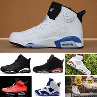 super popular df67f c78a7 Nike Air Jordan 1 4 6 11 12 13 Retro chaussures de basket-ball carmin  Classic 6s UNC noir bleu blanc infrarouge faible chrome femmes hommes sport  bleu rouge ...
