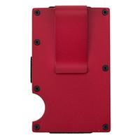 portefeuille de clip d'argent rouge achat en gros de-Pince à billets en métal ultra-mince d'extérieur portable multifonctions haute capacité pince à carte poche de dossier de portefeuille unisexe outil-rouge