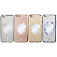 bazus iphone toptan satış-Baseus Ayna Koruyucu Kılıf PC Sert Geri Ultrathin Telefon Koruma iPhone 6 için Artı / 6 S Artı