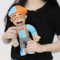 geschenkpuppe großhandel-32 cm pädagogische Videos für Kinder Blippi Plüschtier Stofftiere Puppe pädagogische Kinder Geschenk Kinder anwesend