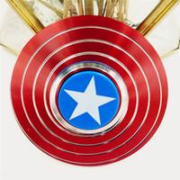yetişkinler için en iyi oyuncaklar toptan satış-Parmak Spinner Reduse Stres Giderici Anksiyete Oyuncaklar Kaptan Amerika Kalkanı Örümcek Adam Yetişkinler ve Çocuklar için En Iyi Otizm Fidgets Spinners Oyuncaklar
