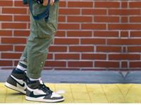 ingrosso materiali di camoscio-Jeff Store Highest Version Black White Brown T S Pelle scamosciata Materiale confortevole Nuovo arrivo