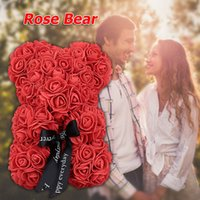 Wholesale lovely gifts for girlfriend for sale - Group buy Valentine S Day Lovely Birthday Wedding Foam Girlfriend Decorations Love Rose Bear Simulated Toy for Gift Romantic