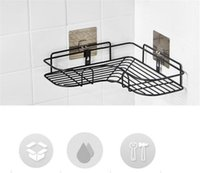 Wholesale metal corners for sale - Group buy New Home Bathroom Accessories Punch Free Corner Bathroom Shelf Bathroom Fixtures Wrought Iron Storage Rack Kitchen Tripod Wall Shelf