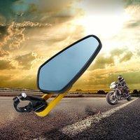 espelho modificado venda por atacado-Motocicleta Guiador Retrovisor Lateral Espelho Retrovisor Espelhos Universal Lidar Com Motocicleta Modificado Espelho Retrovisor