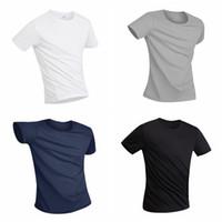 camiseta impermeable al por mayor-Camisa deportiva para hombre Anti-Dirty Impermeable Transpirable Tela súper suave Camiseta de manga corta antibacteriana de secado rápido