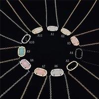 taşlı kolyeler toptan satış-Moda Kendra Druzy drusy kolye Scott Küpe Gümüş Altın Kaplama Sahte Doğal taş Scott Kadınlar Marka Takı Hediye