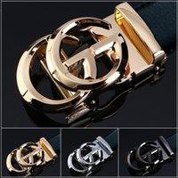 cinturones de hombre de marca al por mayor-Moda Nueva Marca Automática Hebilla Cinturón de Cuero Genuino para Hombres Cinturones de Lujo Para Hombres Cinturón de Cuero de Diseñador Famoso Hombres Cinturón Kb -95