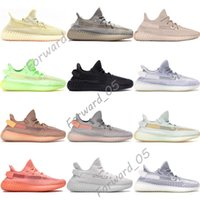 Wholesale genuine women flats summer resale online - Black Static True Form Hyperspace Clay Mens Running Shoes Kanye West Gid Glow Antlia Synth Lundmark Women Designer Sneakers With Box