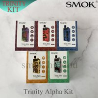 Wholesale alpha metal resale online - Authentic SMOK Trinity Alpha Kit mAh Pod System Kit Built in mAh Battery With Nord mesh ohm coil for DHL VS novo