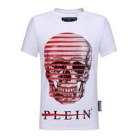 camisas de polo diseñadas al por mayor-Nueva camiseta cráneo polo calidad verano moda hombres camiseta diseño impresión polo de manga corta camiseta poroirt ropa cráneo qp