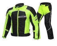 Wholesale motorcycle mesh jacket resale online - LYSCHY Motorcycle Jacket Riding Summer Winter Detechable Waterproof Breathable Mesh Jacket Moto Pants Suit Moto Protective Gear