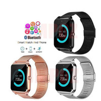 Wholesale quality gps watch for sale – best Good quality Smart Watch Z60 Smartwatches Stainless Steel Wireless Smart Watches Support TF SIM Card For Android IOS With Package